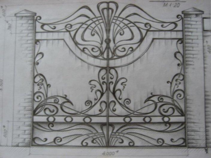 Эскизы кованых изделий